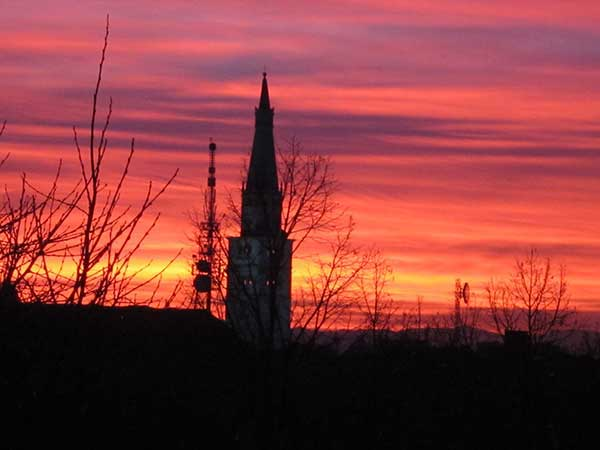 Modena winter sunset